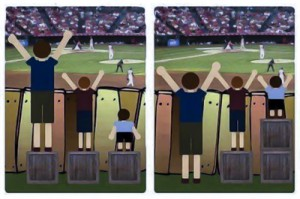 The difference between equal and equity