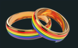 Gay Wedding Rainbow Rings