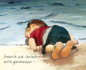 The fate of Syrian refugees if we continue our abuse, our wars, our justifications.