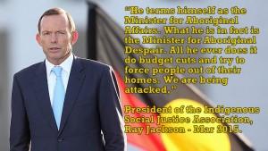 Minister for Aboriginal desperation and deprivation