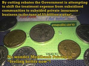 Rebate Cuts or funding private insurance?