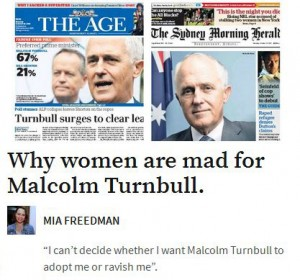 Women besotted with Malcolm Turnbull
