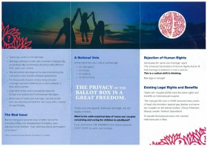 Other side of the anti-gay pamphlet authorised by Hon. Chris Miles
