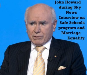 John Howard during Sky News Interview on Safe Schools program and Marriage Equality