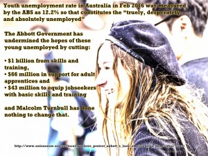 Youth unemployment undermined by LNP