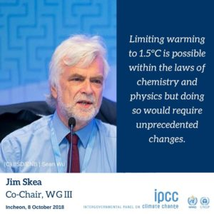 Jim Skea, Co-Chair of the IPCC Working Group