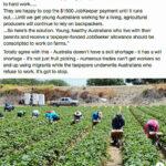 Senator Rennick's FB protest disparaging Australian Youth